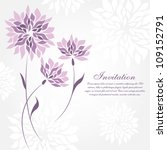flower greeting card. wedding...