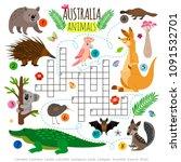 australian animals crossword.... | Shutterstock .eps vector #1091532701