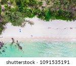 aerial view of beautiful beach... | Shutterstock . vector #1091535191