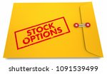 stock options yellow stamped... | Shutterstock . vector #1091539499