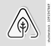 eco leaf in warning triangle.... | Shutterstock .eps vector #1091547869