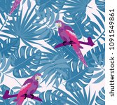 tropical seamless pattern with... | Shutterstock .eps vector #1091549861