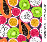 vector seamless pattern with... | Shutterstock .eps vector #1091566004