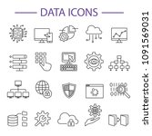 data icons line set vector... | Shutterstock .eps vector #1091569031