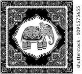 vintage graphic vector indian...   Shutterstock .eps vector #1091575655