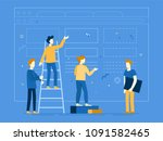 vector illustration in flat... | Shutterstock .eps vector #1091582465