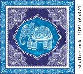 vintage graphic vector indian...   Shutterstock .eps vector #1091595374