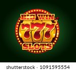 casino vector golden slots... | Shutterstock .eps vector #1091595554