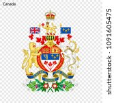 symbol of canada. national... | Shutterstock .eps vector #1091605475