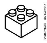 lego brick block or piece line... | Shutterstock .eps vector #1091606015