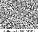 ornament with elements of black ... | Shutterstock . vector #1091608811
