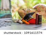 key success in graduate study... | Shutterstock . vector #1091611574