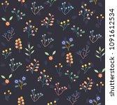 seamless floral pattern... | Shutterstock .eps vector #1091612534