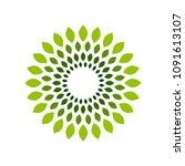 Flower Leafs Circle Symbol Logo ...