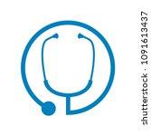 medical stethoscope circle... | Shutterstock .eps vector #1091613437