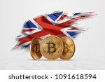 crypto currency  gold coin... | Shutterstock . vector #1091618594