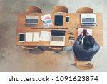 business marketing team... | Shutterstock . vector #1091623874