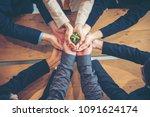 sustainability collaboration... | Shutterstock . vector #1091624174