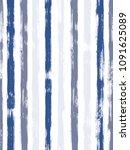 old watercolor brush stripes... | Shutterstock .eps vector #1091625089