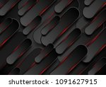 black and glowing red shapes... | Shutterstock .eps vector #1091627915