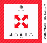 extend  resize icon. cross...   Shutterstock .eps vector #1091633675