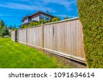 Wooden fence. separate and...