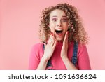 close up portrait of excited...   Shutterstock . vector #1091636624