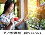 confident business woman in...   Shutterstock . vector #1091637371