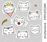 hand draw vector collection... | Shutterstock .eps vector #1091652284