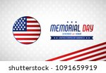 happy memorial day. greeting... | Shutterstock .eps vector #1091659919