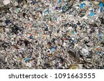 environmental pollution. aerial ... | Shutterstock . vector #1091663555