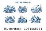 vector illustration with... | Shutterstock .eps vector #1091665391
