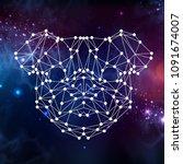 abstract polygonal tirangle... | Shutterstock .eps vector #1091674007