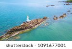 pagoda in the sea at... | Shutterstock . vector #1091677001