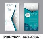 flyer template. vectical banner ... | Shutterstock .eps vector #1091684807