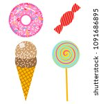fun stickers for girl  fashion... | Shutterstock .eps vector #1091686895