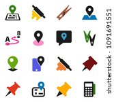 solid vector icon set  ... | Shutterstock .eps vector #1091691551