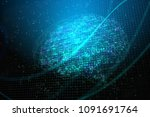 creative digital brain backdrop....   Shutterstock . vector #1091691764