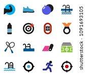solid vector icon set   target... | Shutterstock .eps vector #1091693105