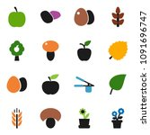 solid vector iconn set   cook... | Shutterstock .eps vector #1091696747