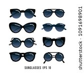 sunglasses vector set | Shutterstock .eps vector #1091698901