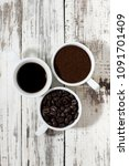 three types of coffee   ground  ... | Shutterstock . vector #1091701409