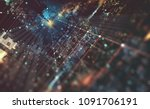abstract tech background 3d... | Shutterstock . vector #1091706191