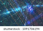 abstract tech background 3d... | Shutterstock . vector #1091706194