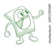 cartoon happy dvd disk box... | Shutterstock .eps vector #1091709389