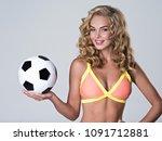 beautiful sexy woman in trendy... | Shutterstock . vector #1091712881