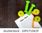 apples   diet plan and...   Shutterstock . vector #1091713619