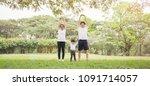 Family Exercising Jogging...