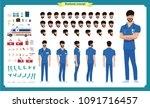 front  side  back view animated ... | Shutterstock .eps vector #1091716457