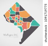 washington dc map with... | Shutterstock .eps vector #1091719775